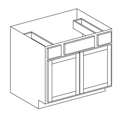 """Image for Vanity Sink Drawer Base Cabinet - Double Door - 21"""" Deep"""