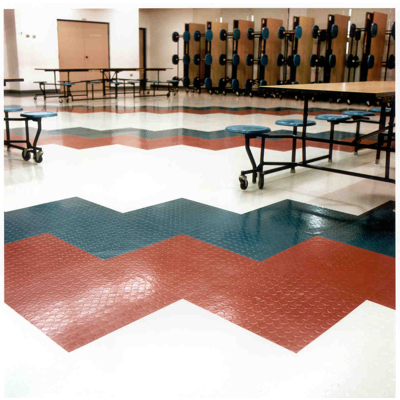 Image for Low Profile Raised Circular Design Rubber Tile