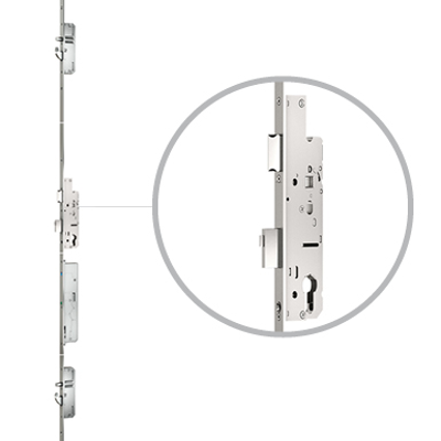 Image for 2-sash front door with Genius and panic function, drive on active sashes