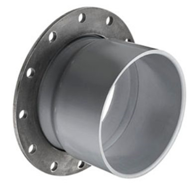 Image for SCH80 CPVC/PVC Vanstone Flange w/ Steel Ring (Soc) - Fabricated