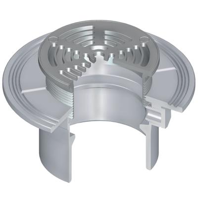 bild för OceanTUFF™ Floor Drain with Stainless Steel Adjustable Top w/Round Grate