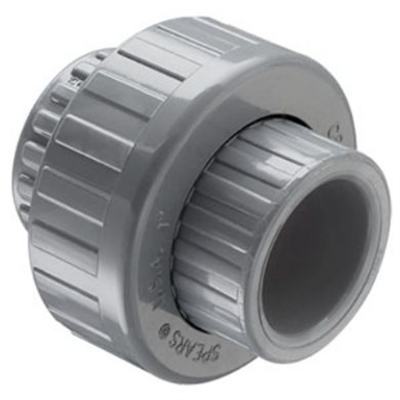 Image for SCH80 CPVC/PVC Union (Soc) w/ FKM O-ring