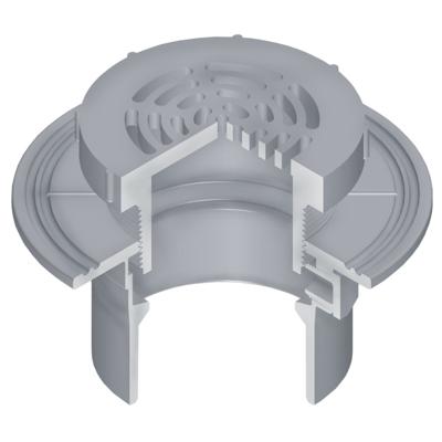 """bild för OceanTUFF™ Floor Drain with CPVC Adjustable Top w/5"""" Round Grate"""