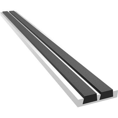 Image for Inset Ribbed Bar Abrasive Stair Tread Nosing
