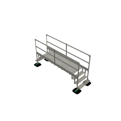 Image pour Bridge 2 step  with railing 3mtr 1000x1000x3000 | YETI rooftop walkway and stepover
