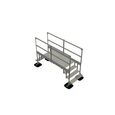 Image pour Bridge 2 step  with railing 2mtr 1000x1000x2000 | YETI rooftop walkway and stepover