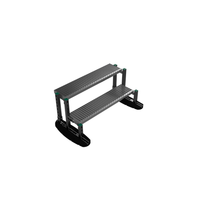 billede til Walkway and stepover Steps free standing 0,5mtr | YETI rooftop walkway and stepover