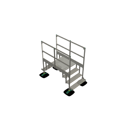 Image pour Bridge 2 step  with railing 1mtr 1000x1000x1000 | YETI rooftop walkway and stepover