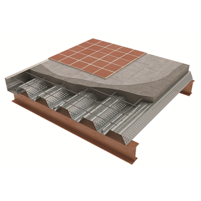 billede til Korona®60 Profiled steel floor decking for composite floor slabs