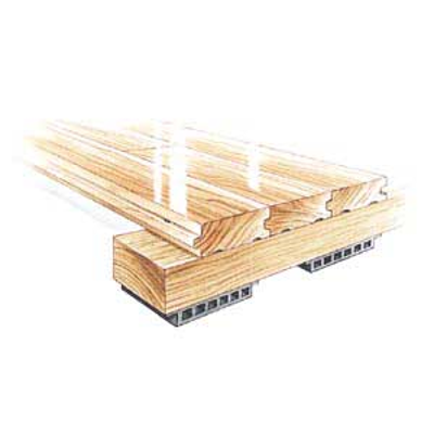 Image pour ActionCush II - Floating Sleeper Panel Floor System