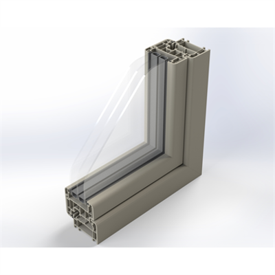 Image for Zendow#neo Double Window with Sidelight - Block frame installation