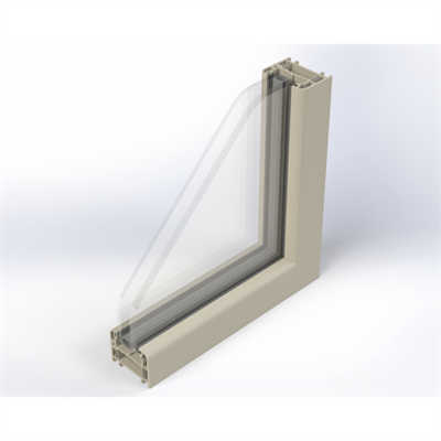 Image for Zendow Fixed Window - Face mounted installation