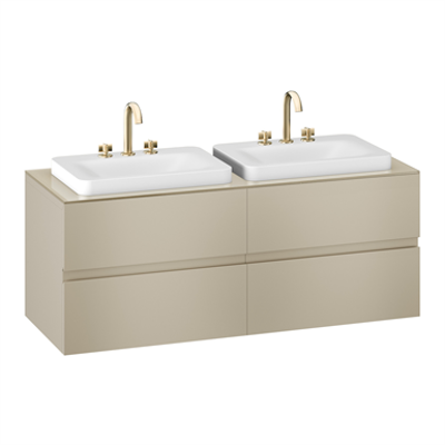 Image for ARMANI - BAIA 1550 mm wall-hung furniture for 2 deck-mounted basin mixers and over countertop washbasins