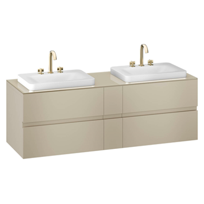 Image for ARMANI - BAIA 1800 mm wall-hung furniture for 2 deck-mounted basin mixers  and over countertop washbasins