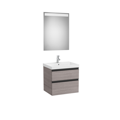 Image for DOMI Pack 600 (base unit w/ two drawers, basin and mirror with LED light)