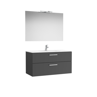 Image for VICTORIA BASIC Pack 1005 (base unit with two drawers, basin, mirror and LED wall light)