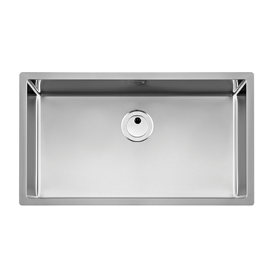 imagem para PRAGA 790mm Stainless steel single bowl kitchen sink