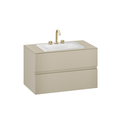 Image for ARMANI - BAIA 1000 mm wall-hung furniture for countertop washbasin and deck-mounted basin mixer