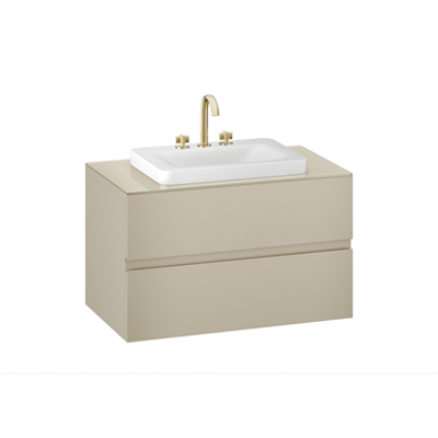 Image for ARMANI - BAIA 1000 mm wall-hung furniture for deck-mounted basin mixers and over countertop washbasins