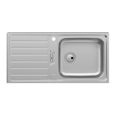 imagem para SIENA 1000 Stainless steel single bowl kitchen sink