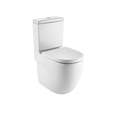 Immagine per MERIDIAN Comfort height back to wall vitreous china close-coupled WC with dual outlet and touchless mechanism