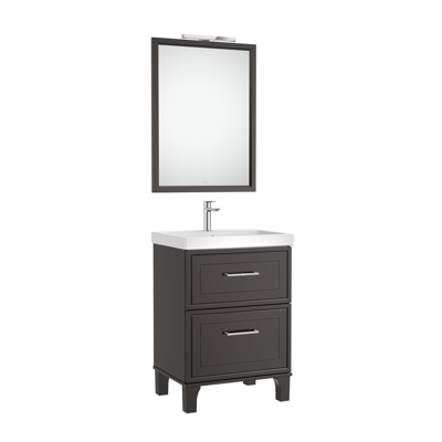 Image for ROMEA Pack 600 (base unit with two drawers, basin, mirror and LED wall light)