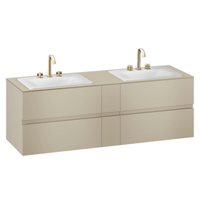 Image for ARMANI - BAIA 1800 mm wall-hung furniture for 2 countertop washbasins and deck-mounted basin mixers