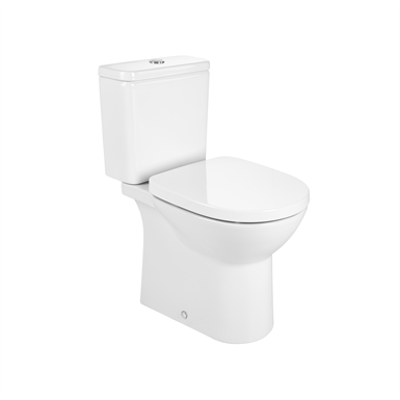 imagem para DEBBA ROUND - Close-coupled Rimless toilet with dual outlet