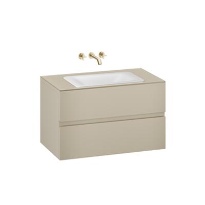 Image for ARMANI - BAIA 1000 mm wall-hung furniture for  countertop washbasin and wall-mounted basin mixer
