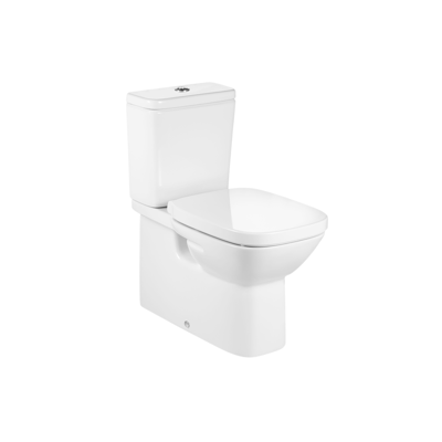 imagem para DEBBA Back to wall vitreous china close-coupled WC with dual outlet