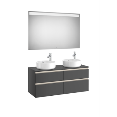 Image for THE GAP 1200 Pack (base unit 4 drawers for 2 over countertop basins and LED mirror)