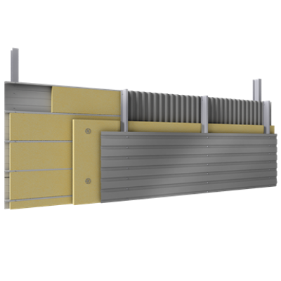 Image for Multi skin cladding trays spacers insulation