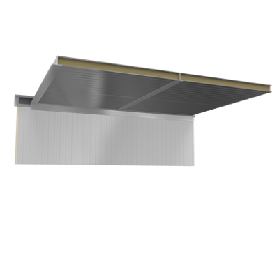 Image for Ceiling sandwich panels 2 steel facings mineral wool core