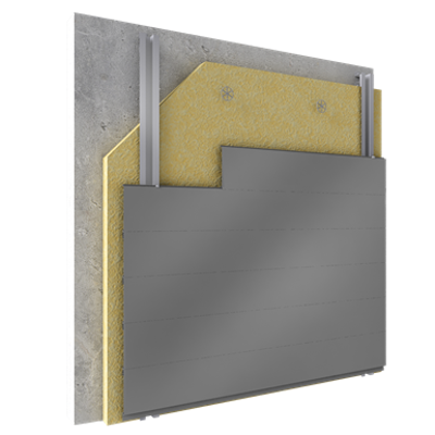Image for Overcladding with steel alu sidings in horizontal pos with insulation