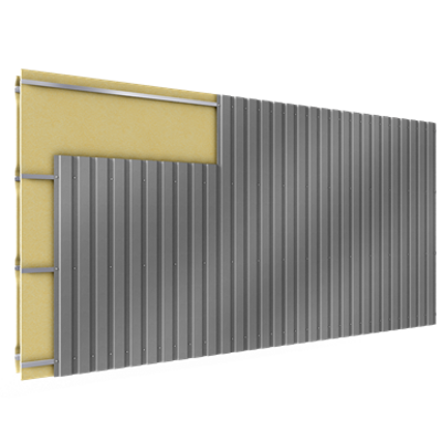 Image for Cladding with 2 skins