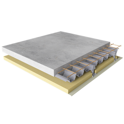 imagen para Composite floor with fire  acoustic protection