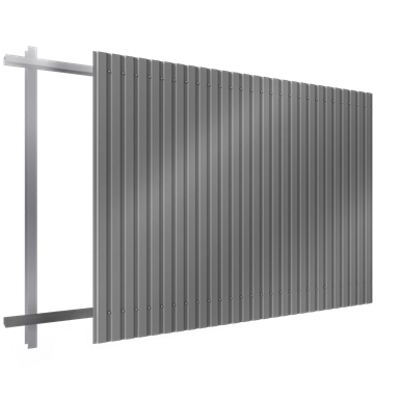 Steel single skin cladding in vertical position 이미지