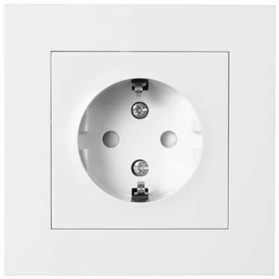Image for PLUS single socket-outlet screw PW RAL9010