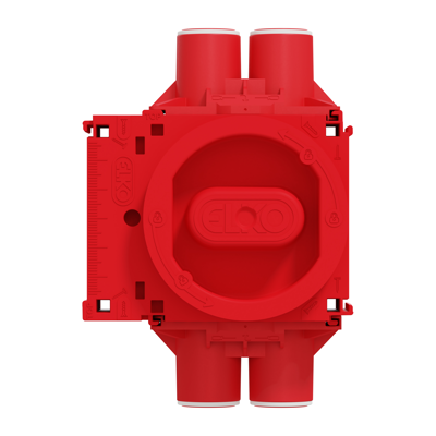 Image for Installation box single module 4 stubs 16/20 c/c 60mm