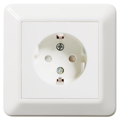 Image for Single socket outlet RS16 flush PW RAL9003