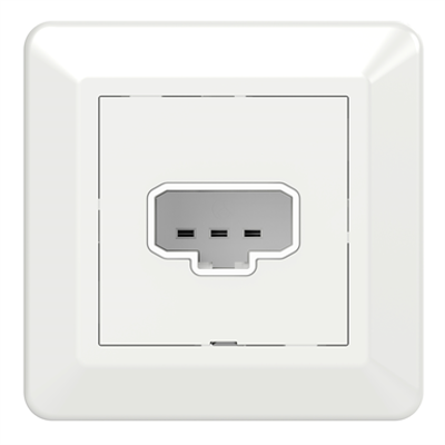 Image for DCL wall socket outlet RS16 PW RAL9003