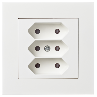 Image for PLUS triple Euro socket-outlet PW RAL9010