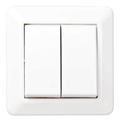 Image for Double stage switch RS16 flush PW RAL9003