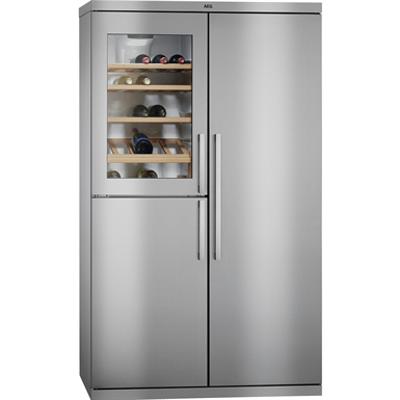 изображение для AEG SBS ST L Fridge Freezer Bottom Freezer Stainless Steel+Stainless Steel Door with Antifingerprint 540 1855