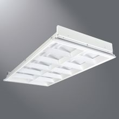 """Image for Metalux OpticaHP Series Luminarie, 2"""" High, 12-Cell Louver Combined With A Precision Engineered Cross Blade"""