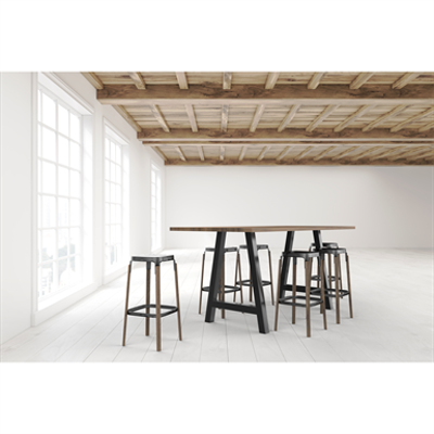 Image for Briggs Table - Solid Wood - Standing Height