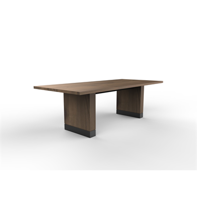 Image for Box with Boot Table - Live Edge Maple Solid Wood - Standing Height