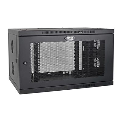 Image for SmartRack 9U Low-Profile Switch-Depth-Plus Wall-Mount Rack Enclosure Cabinet with cable management, Wide