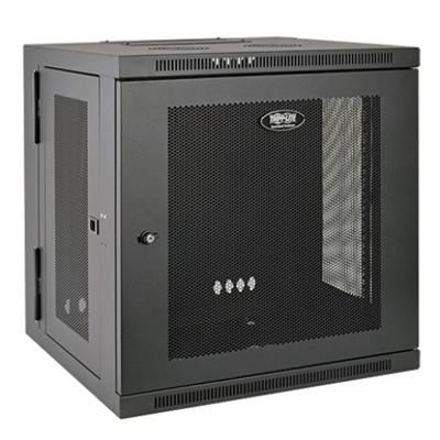 Image for SmartRack 10U Low Profile Switch Depth Wall Mount Rack Enclosure Cabinet, Hinged Back