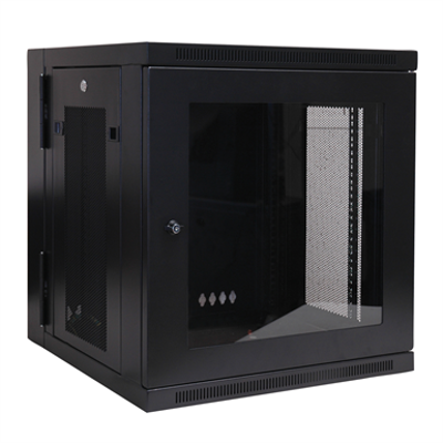 Image for SmartRack 12U Low Profile Switch Depth Wall Mount Rack Enclosure Cabinet with Clear Acrylic Window, Hinged Back